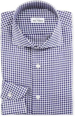 Atelier Munro Men's Gingham Check Dress Shirt