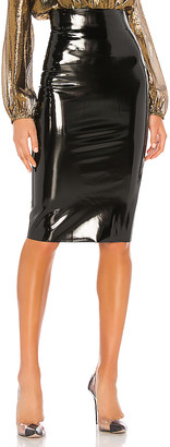 Commando Patent Midi Skirt