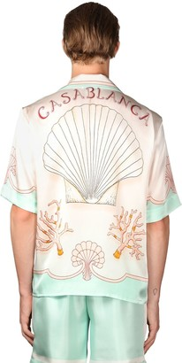 Casablanca Coquillages Silk Short Sleeve Shirt