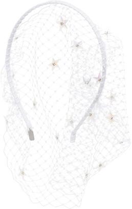 Gigi Burris Millinery Showtime crystal-embellished veil