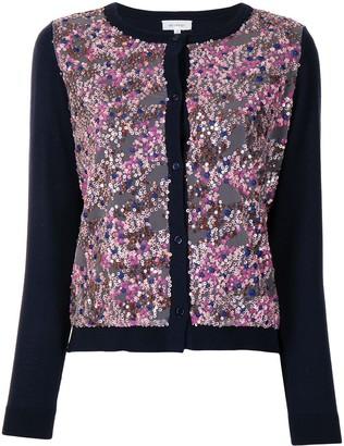 DELPOZO Sequinned Merino Wool Cardigan