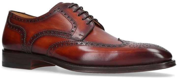 Magnanni Burnished Punch Toe Derby Shoes