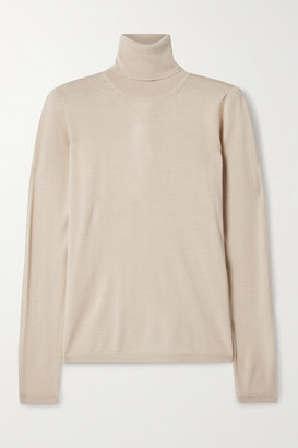 Max Mara Saluto Wool Turtleneck Sweater - Beige