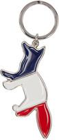 MAISON KITSUNÉ Silver Tricolor Fox Keychain