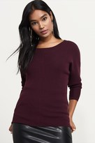 Dynamite Ribbed Open Back Sweater