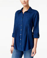 Style&Co. Style & Co Roll-Tab Shirt, Created for Macy's