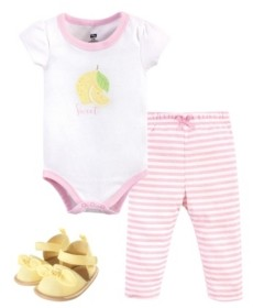 Hudson Baby Boys and Girls Bodysuit, Pant and Shoe Set