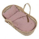 Numero 74 Doll's Bassinet, Mattress and Linen - Vintage Pink