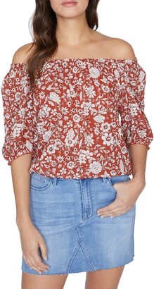 Sanctuary Malibu Floral Off-the-Shoulder Top