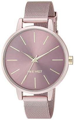 Nine West Women's NW/2280PKPK Mesh Bracelet Watch