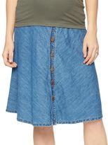 A Pea in the Pod Secret Fit Belly Denim Maternity Skirt