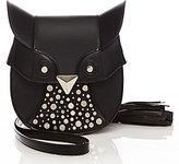 Luana Italy Minerva Owl Cross-Body Leather Studded Bag