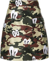 House of Holland camouflage print skirt