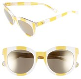 Dolce & Gabbana 50mm Round Sunglasses
