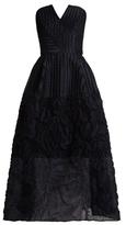 Roland Mouret Aldrich puckered strapless gown