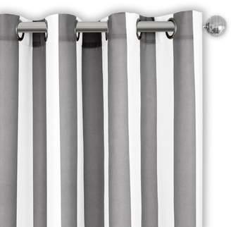 """Aiden Stripe Indoor/Outdoor Curtain Panel, 50"""" x 84"""""""