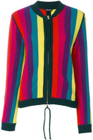 Twin-Set striped zipper cardigan - women - Polyamide/Viscose/Cashmere/Wool - M