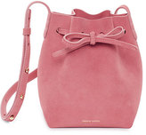 Mansur Gavriel Mini Mini Suede Bucket Bag, Pink