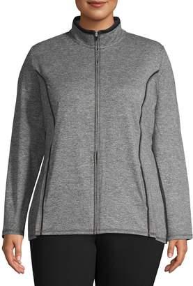 Karen Scott Plus Stand Collar Jacket