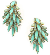 Elizabeth Cole Billie Earrings GREEN