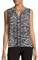Calvin Klein Collection Sleeveless Printed Top