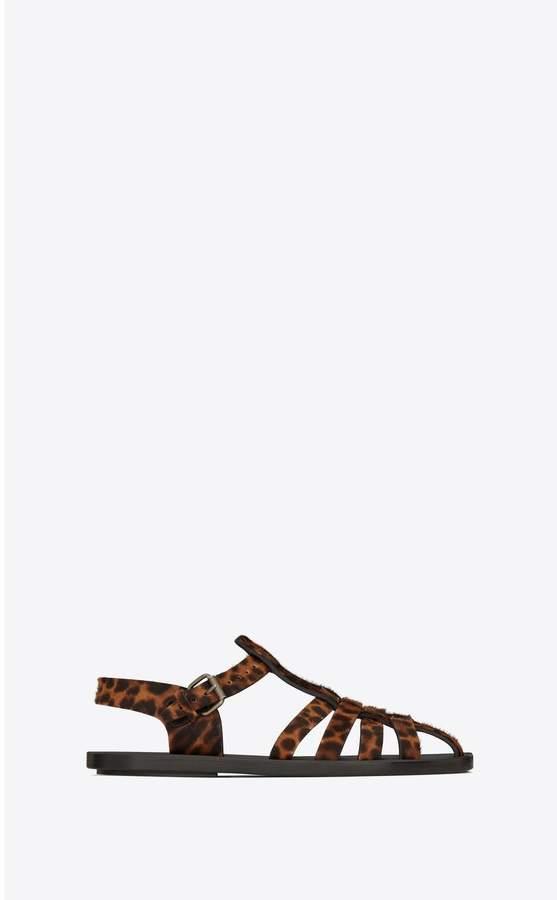 f124a481edc Saint Laurent Beige Strap Buckle Women's Sandals - ShopStyle