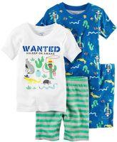 Carter's Toddler Boy 4-pc. Print & Graphic Tee & Shorts Pajama Set