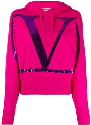 Valentino VLOGO sequin-embellished hoodie