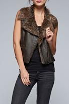Love Stitch Lovestitch Fur Trim Vest