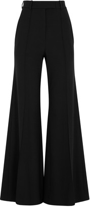 Racil Lincoln Black Flared Stretch-wool Trousers