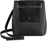 Maria Maleta Mini Bucket Shoulder or Handbag in Black Leather