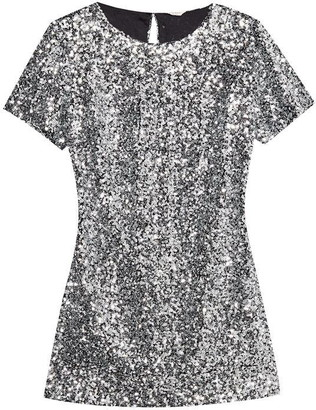 Jack Wills Elmshaw Sequin T-Shirt Dress