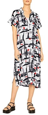 Thumbnail for your product : b new york Henley Midi Abstract Print Dress