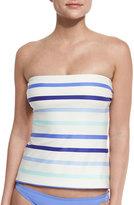 Kate Spade Provincetown Bow-Back Bandini Swim Top, Adventure Blue