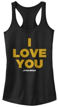 Fifth Sun Star Wars Princess Leia I Love You Ideal Racer Back Tank