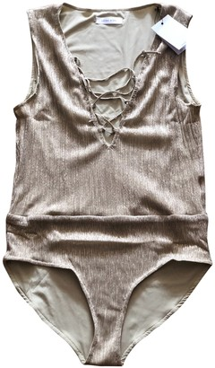 Anine Bing Gold Polyester Jumpsuits