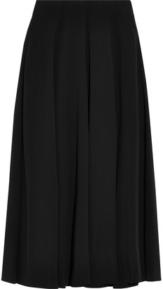 The Row Fluted Stretch-crepe Midi Skirt