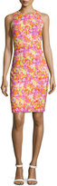 Versace Sleeveless Jewel-Neck Dress, Orange