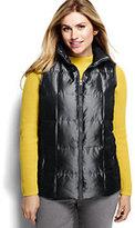 Classic Women's Plus Size Shimmer Down Vest-Deep Slate