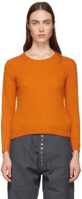 Acne Studios Orange Shrunken Fit Crewneck Sweater