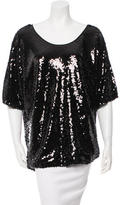 Rachel Zoe Off-The-Shoulder Sequined Top