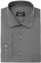 Alfani Men's Regular Fit Performance Stretch Geometric Eye Print Dress Shirt, Created for Macy's