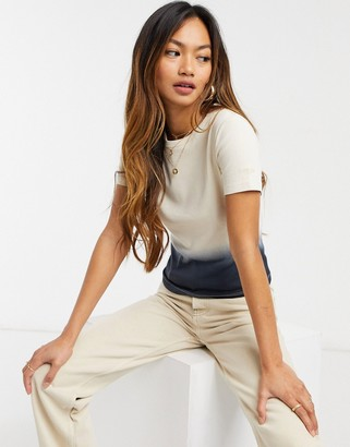 Levi's graphic dip dye tee in nude