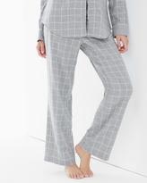 Soma Intimates Essential Cotton Pajama Pants Plaid Metro Heather Gray