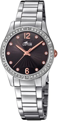 Lotus Women's Analogue Analog Quartz Watch with Stainless Steel Strap 18383/2