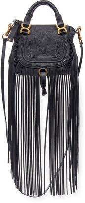 Chloé Marcie Mini Fringe Double-Carry Satchel Bag