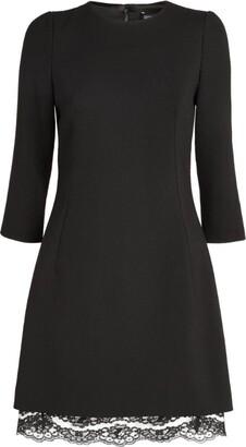 Dolce & Gabbana Lace Trim Mini Dress