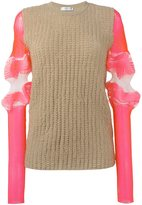 J.W.Anderson sleeve detail jumper - women - Cotton/Polyamide/Polyester/Spandex/Elastane - S