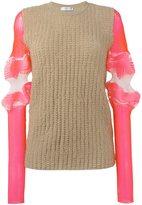 J.W.Anderson sleeve detail jumper - women - Polyester/Polyamide/Spandex/Elastane/Cotton - S
