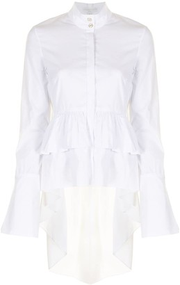 Caroline Constas Ruffle-Hem Shirt